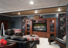 Awesome Living Room Theaters Decor with Cheap Luxury Black Leather Furniture Online