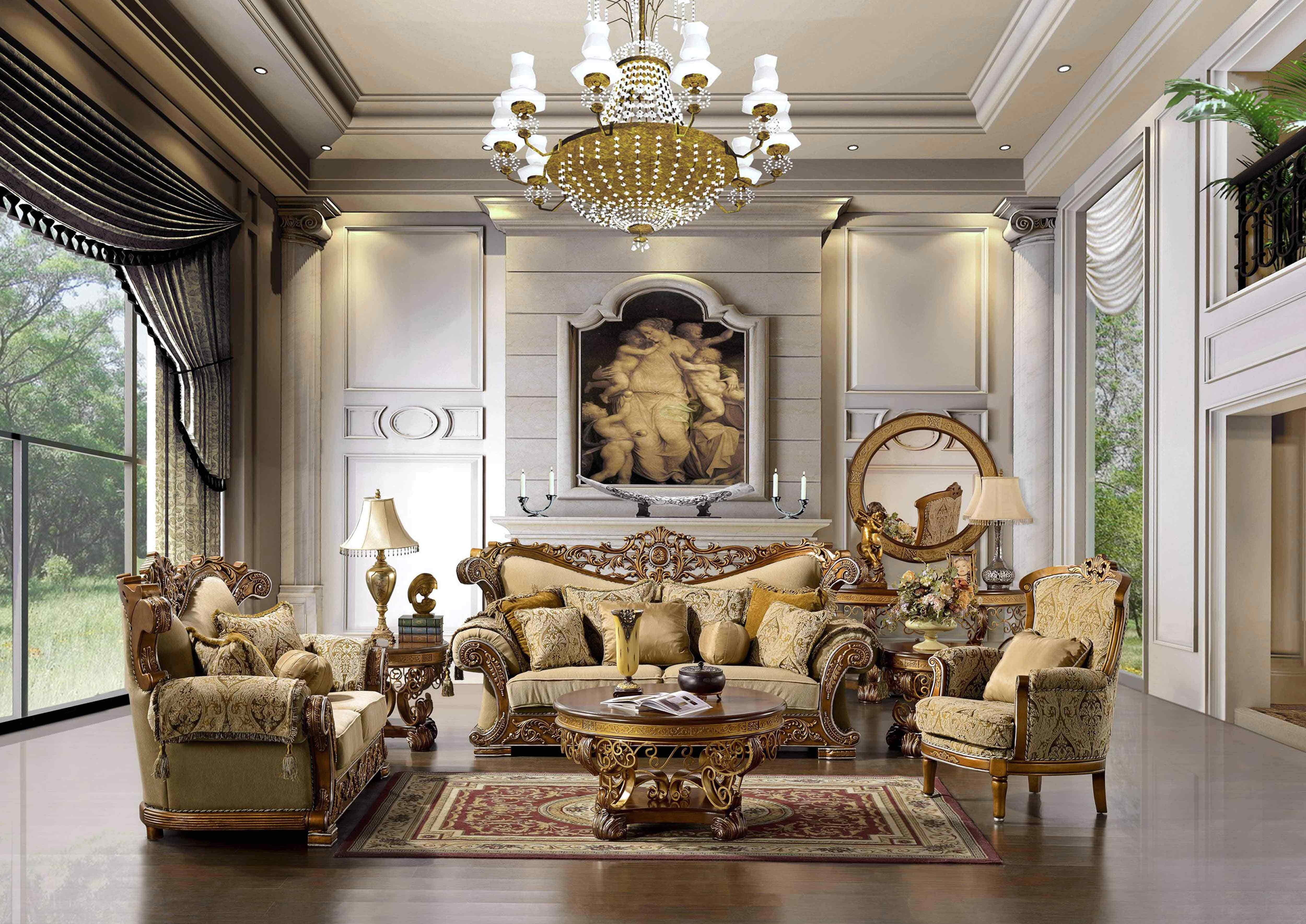 Awesome Luxury Living Room Furniture Set in Discount Furniture Stores