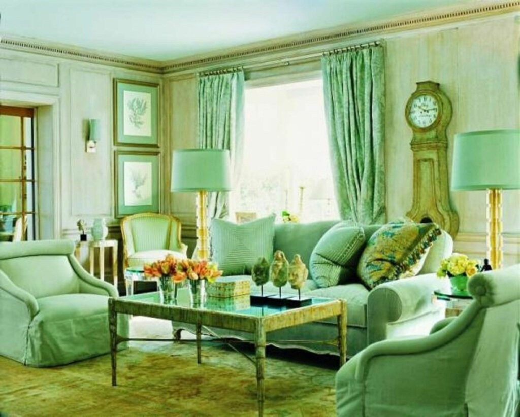 Awesome Small Space Living Room Design With Pale Green Paint Ideas For Living Room Raysa House