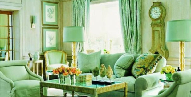 Awesome small space living room design with pale green paint ideas for living room raysa house - Small space living blog paint ...