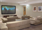 Best Living Room Movie Theaters Interior Design with Cheap White Sectional Sofa Furniture Online
