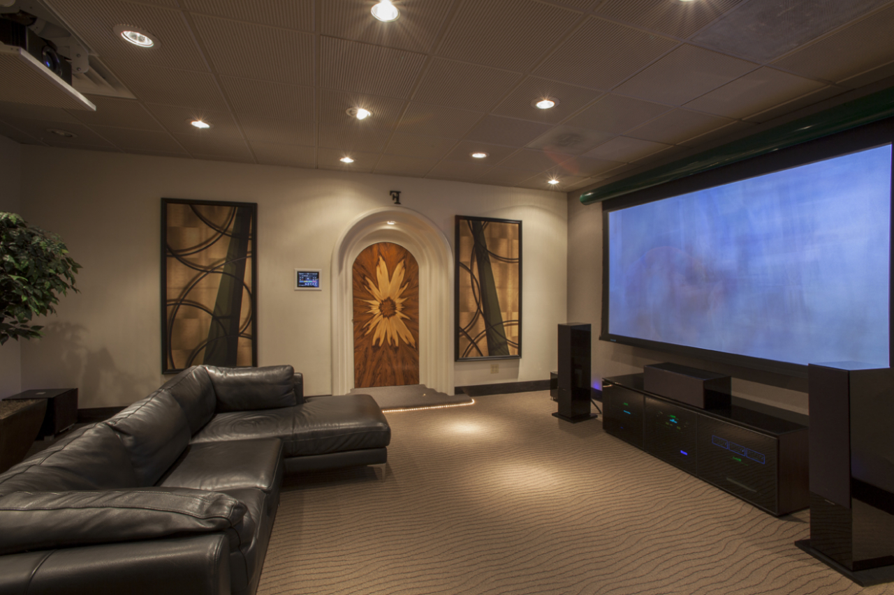 Interior designs for living room theaters for Living room theater