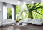 Big Tree Wall Paint Ideas for Living Room Decor with Best Paint Colors for Living Rooms