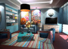 Blue Color Schemes Living Room Interior Ideas with Paint Ideas for Living Room