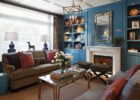 Blue Interior Living Room Ideas with Wall Paint Ideas for Contemporary Living Room