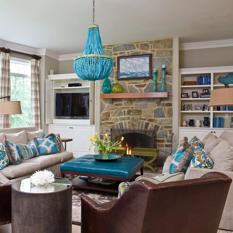 Blue Living Room Decor Ideas with Paint Ideas for Contemporary Living Room