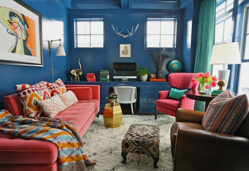 Blue Living Room Ideas with Paint Ideas for Small Living Room Spaces