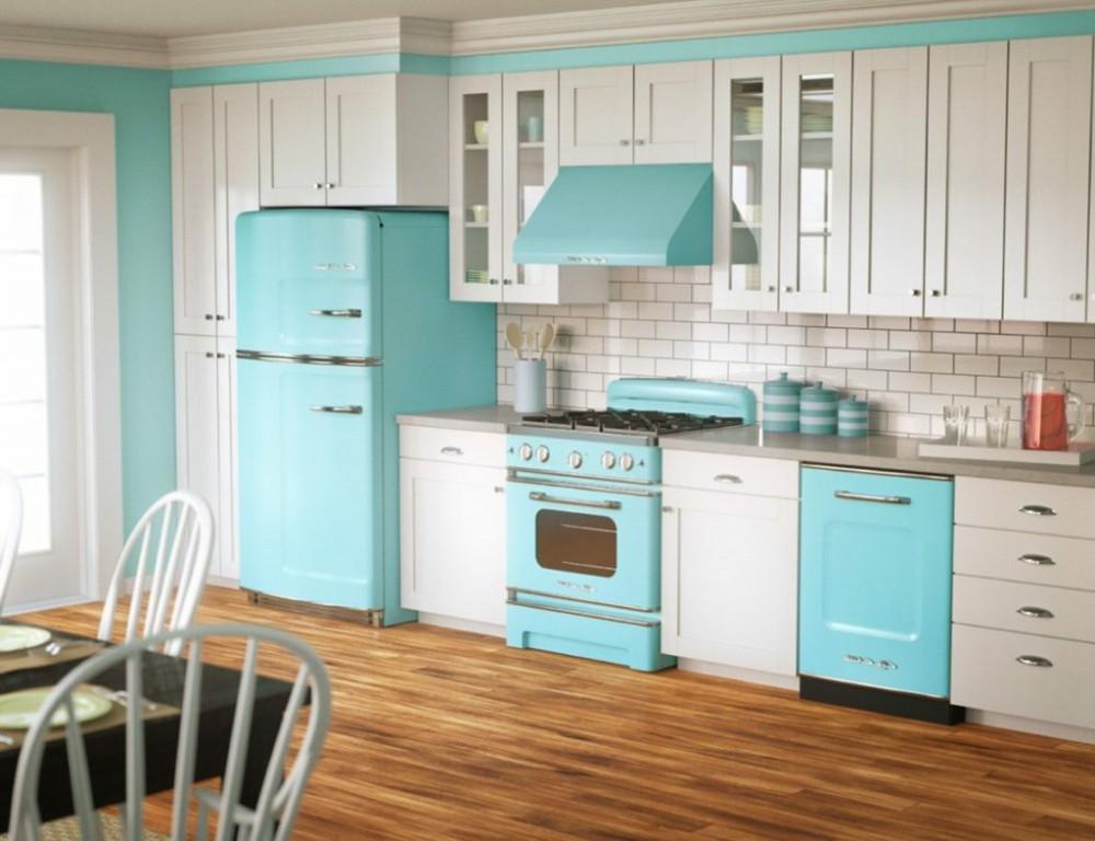 Cheap-Kitchen-Cabinets-Refacing-Ideas-blue-white-kitchen-designs