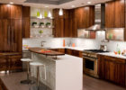 Cheap Kitchen Cabinets Refacing Ideas Brown Kitchen Cabinet With White Island