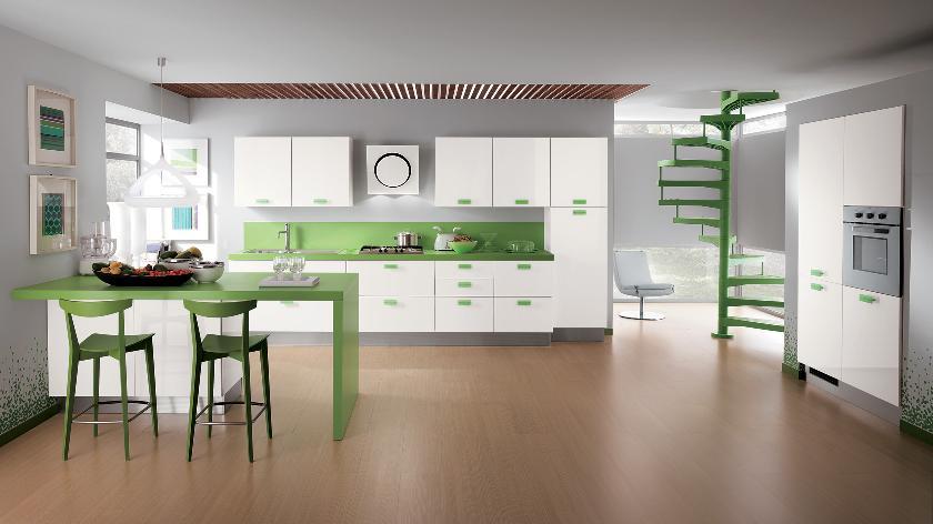 Cheap-Kitchen-Cabinets-Refacing-Ideas-for-green-white-modern-kitchen-designs