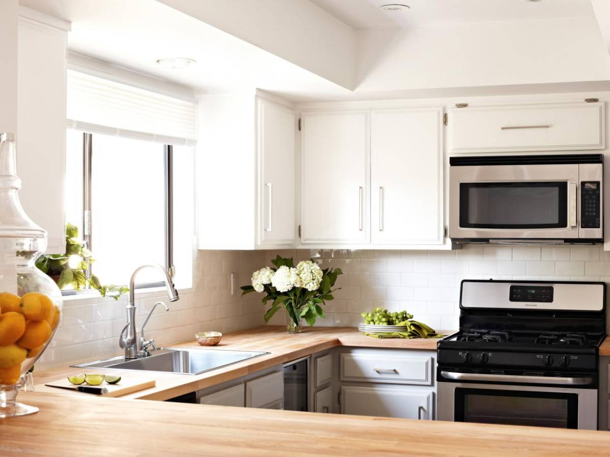 Cheap Kitchen Remodel Ideas with Inexpensive White Kitchen Remodel on a Budget