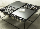 Cool Black Metal Coffee Tables with Book Storage Ideas for Cheap Modern Furniture