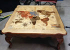 Cool Wood Coffee Tables with World Map on Top Ideas for Cheap Modern Living Room Furniture