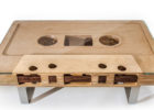 Cool Wooden Cassette Coffee Tables with Metal Legs for Cheap Modern Living Room Furniture