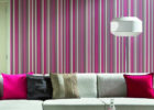 Dark Purple Strips Wall Paint Ideas for Living Room with Best Modern Paint Colors for Living Rooms