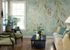 Green Leaf Wall Paint Ideas for Living Room Decor with Best Paint Colors for Living Rooms