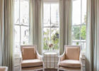 Grey Color Schemes for Living Room with Tall Curtain Ideas for Living Room