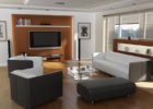 How to Decorate a Modern Living Room for Arrangement Living Room Theaters