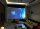 How to Design Big Screen View Living Room Interior Theaters Ideas