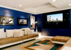 How to Design Contemporary Blue Living Room Theaters Ideas