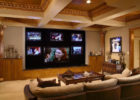 How to Design Luxury Living Room Movie Theaters with Big Screen View
