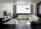 How to Design Modern Living Room Theaters with Luxury Tufted Leather Sofa