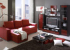 Leather Red Living Room Sofa Ideas with Living Room Drapes Design