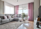 Living Room Drapery Curtain Ideas with Pretty Curtains Pink Color for Living Room