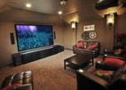 Living Room Movie Theaters with Black Leather Tufted Cheap Furniture Online