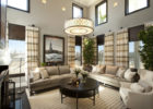 Luxury Round Pendant Lights Decor Living Room Leather Furniture Sets in Discount Furniture Stores