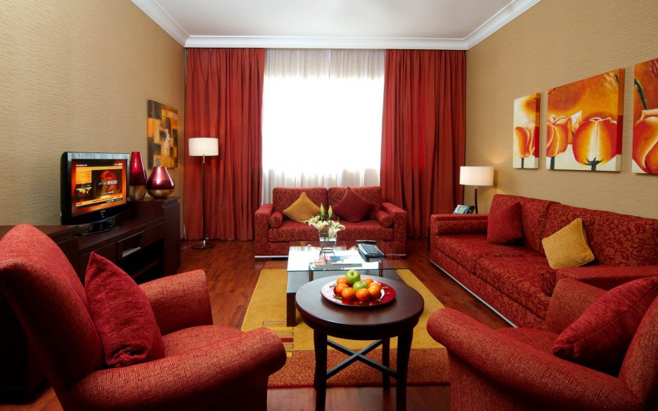 Modern Red Living Couch Room Ideas with Red Living Room Drapes