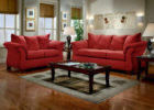 Modern Red Living Room Couch Ideas with Living Room Blind Design