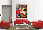 Modern Red Living Room Sofa Ideas with Living Room Painting Decor
