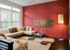Modern Red Living Room Wall Ideas with Living Room Wall Decor Ideas
