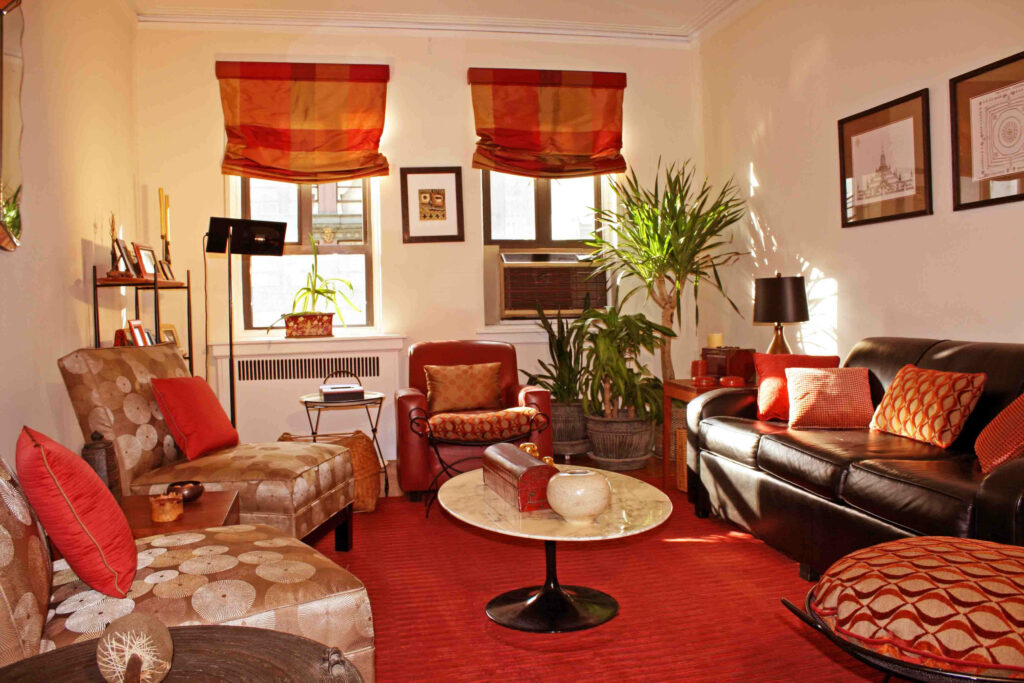 Red Color Schemes Living Room Interior Ideas With Modern Living Room Blinds Raysa House