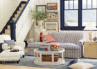 Shabby Chic Living Room with Round White Coffee Table on How to Decorate a Living Room Interior Designs