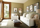 Small Living Room Modern White Sofa Design with Paint Ideas for Living Room