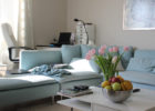 Soft Blue Sectional Sofa Living Room Ideas with Paint Ideas for Small Living Room