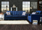 Tufted Navy Blue Living Room Ideas with Paint Ideas for Living Room