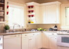 White Cheap Kitchen Remodel Ideas on a Budget with Inexpensive Wooden Kitchen Cabinet Remodel