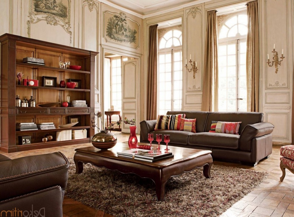 White Contemporary Luxury Living Room Furniture Decor in Discount Furniture Stores