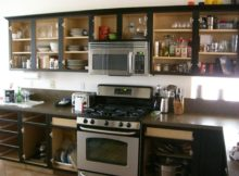Black DIY Kitchen Cabinets with Gallery Ideas for Glass Door Kitchen Cabinets