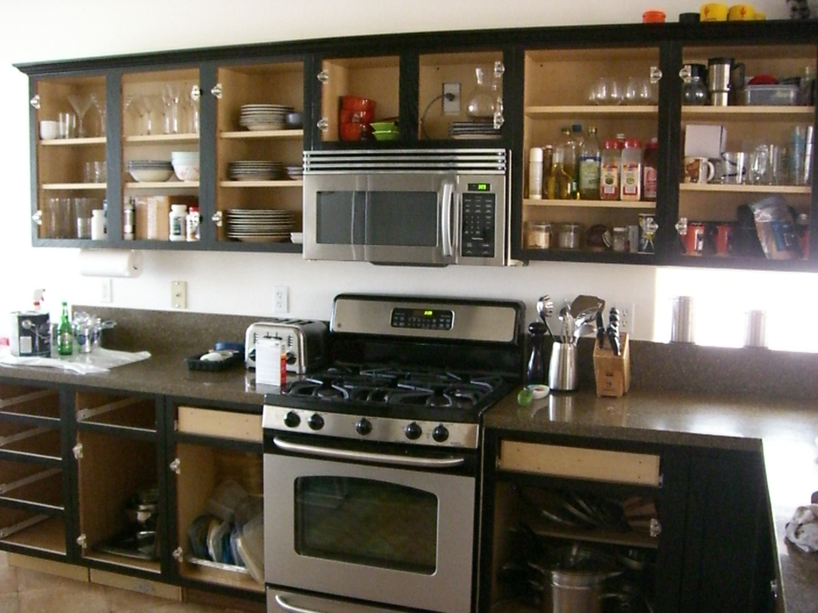 black-diy-kitchen-cabinets-with-gallery-ideas-for-glass-door-kitchen-cabinets