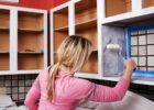 DIY Kitchen Cabinets Door Refacing with Gallery Ideas for Painting Kitchen Cabinets