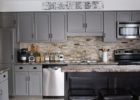 Grey DIY Kitchen Cabinets with Gallery Ideas for Painted Kitchen Cabinets