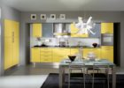 Modern Yellow Cheap Kitchen Cabinets Refacing Ideas