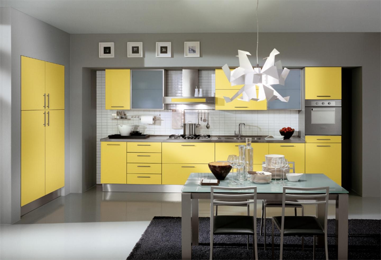 modern-yellow-Cheap-Kitchen-Cabinets-Refacing-Ideas