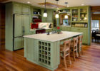 Rustic Wooden Cheap Kitchen Cabinets Refacing Ideas