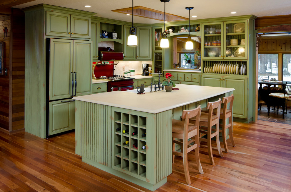 rustic-wooden-Cheap-Kitchen-Cabinets-Refacing-Ideas