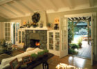 affordable italian cottage style living room furniture sets with natural stone fireplace